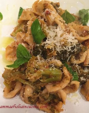 orecchiette-con-broccoli-siciliani-pomodorino-fresco-e-caciocavallo-grattuggiato