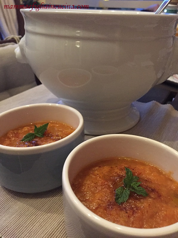 Crema fredda di finocchi, pomodori e paprika