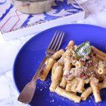 Maccheroni con Pesto di broccoli e pomodori secchi